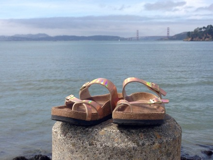 Gina Mama's I Love Birkenstocks Birkenstock Mayari Rose Gold Soft Footbed