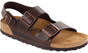 Birkenstock Milano Soft Footbed Amalfi Brown Gina Mama's I Love Birkenstocks