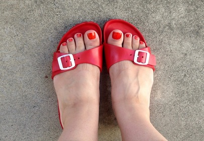 Birkenstock EVA Madrid Red Gina Mama's I Love Birkenstocks