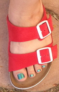 I Love Birkenstocks Birkenstock Arizona Red Nubuck
