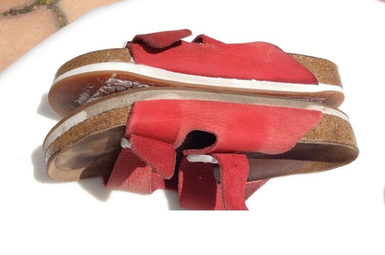 How to Clean White Sole Birkenstocks Before and After Picture Gina Mama's I Love Birkenstocks