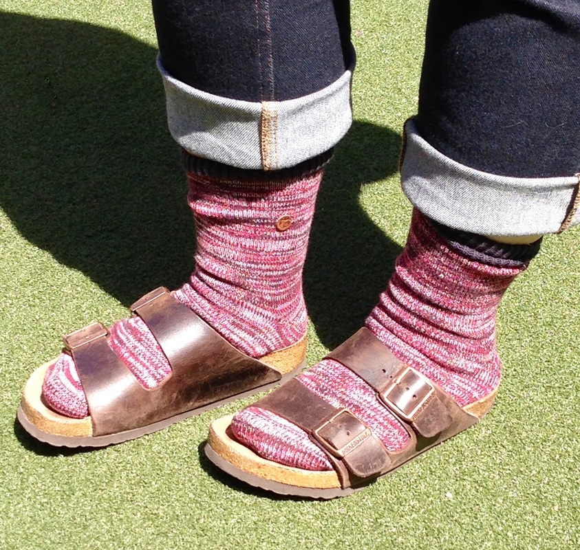 Gina Mama's I Love Birkenstocks Birkenstocks with wool socks Fake Birkenstocks Knock Off Birkenstocks Counterfeit Birkenstocks Birkenstocks and Socks
